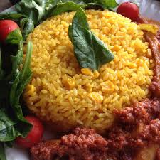 Arroz Amarillo Y Maiz (Yellow Rice and Corn)