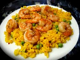 Arroz Amarillo con Camarones y Vegetales (Yellow Rice with Shrimp and Vegetables)